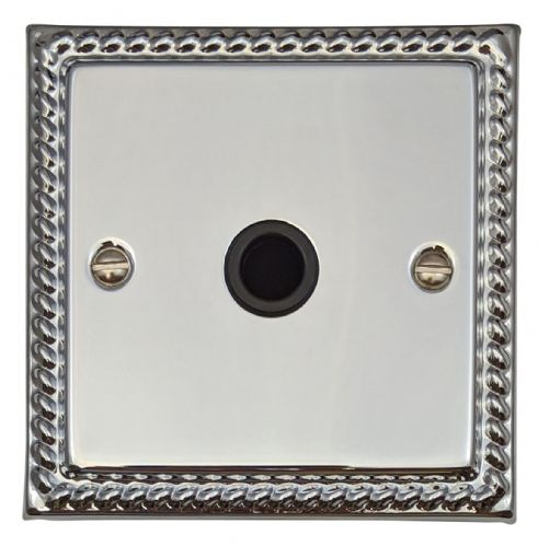 G&H MC79B Monarch Roped Polished Chrome 1 Gang Flex Outlet Plate